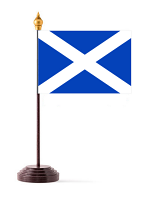Scottish Table Flag with Stick and Base
