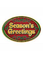 "Season's Greetings Sign 12"" x 18"""