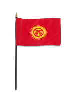 "Kyrgyzstan medium hand flag 9"" x 6"""