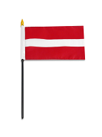 "Latvia medium hand flag 9"" x 6"""