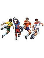Footballers Cardboard Cutout (4 in pacK)