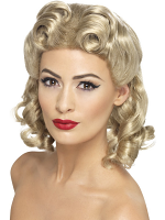 40'S Sweetheart Wig,Blonde