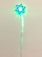 Star of David Flashing Fibre Optic Hair Braid