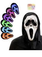 Hooded Ghost Mask W/Multicolour Light
