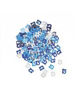 Birthday Glitz Blue - 13th Birthday Confetti
