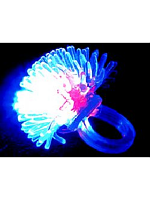 Flashing Jelly Spiky Ring