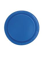 "Royal Blue 9"" Paper Plate"