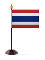 Thailand Table Flag with Stick and Base