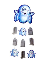 Ghost and Gravestone Hanging Decoration