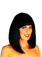 Cheerleader Wig, Black (1)