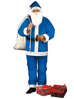 Blue Santa Claus Costume