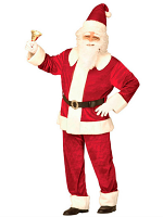 Super Deluxe Santa Suit Velvet (Jacket Pants Hat Belt)
