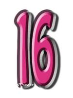 16 Sixteen Cardboard Cutout