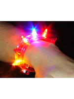 Flashing Blinking Spiked (Studded) Bracelet.