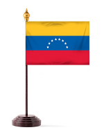 Venezuala Table Flag with Stick and Base