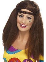 Hippy Chick Long Afro - Brown