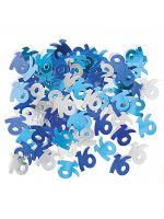 Birthday Glitz Blue - 16th Birthday Confetti