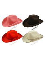Felt Cowboy Hat with Sequin Trim