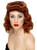 Pin Up Girl Wig ,Auburn