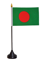 Bangladesh Table Flag with Base and Stick
