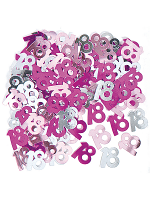 Birthday Glitz Pink - 18th Birthday Confetti