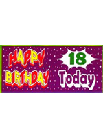 18th Birthday Banner giant