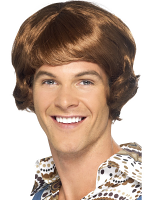 Disco Mullet Wig,Light Brown
