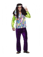 Psychedelic Hippy Man Costume 12345