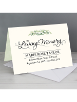 Personalised In Loving Memory Card