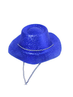 Glitter Cowboy Hat Blue