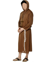 Monk Brown Costume (12345)