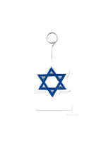 Balloon Weight/Photo Holder Star Of David Blue And White