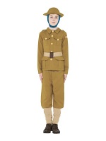 Horrible Histories WWI Boy Costume, with Top, Trousers & Hat
