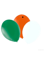 "Balloons Standard 12"" Orange/Green/White"