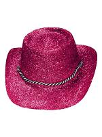 Glitter Cowboy Hat Hot Pink