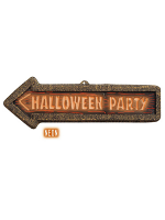 3D Neon Halloween Party Sign