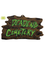 3D Neon Deadend Cemetery Sign