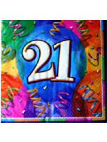 21st Birthday Jubilee Party Napkins Contains 16 three-ply napkins