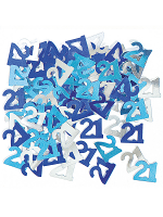 Birthday Glitz Blue - 21st Birthday Confetti