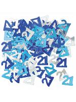 Birthday Glitz Blue - 21st Birthday Confetti
