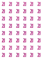 Birthday Glitz Pink - 21th Birthday Prism Hanging Decoration