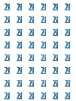 Birthday Glitz Blue - 21st  Birthday Prism Hanging Decoration