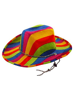 Rainbow Pride Felt Cowboy Hat * ONLY 1 AVAILABLE *