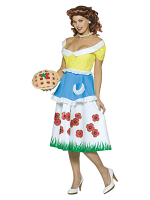 Adult June Cleavage Costume with Cherry Purse