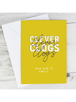 Personalised Clever Clogs Card