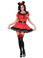 Mouse Girl Costume (Dress W/Petticoat Ears)