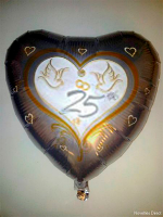 Foil Balloon '25th WEDDING ANNIVERSARY'