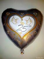 Foil Balloon '25th WEDDING ANNIVERSARY'