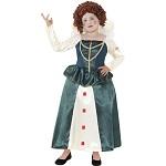 Horrible Histories Elizabeth I Costume, Green, with Dress