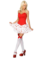 Cupid Cutey White, Red With Dress And Wings (12345)